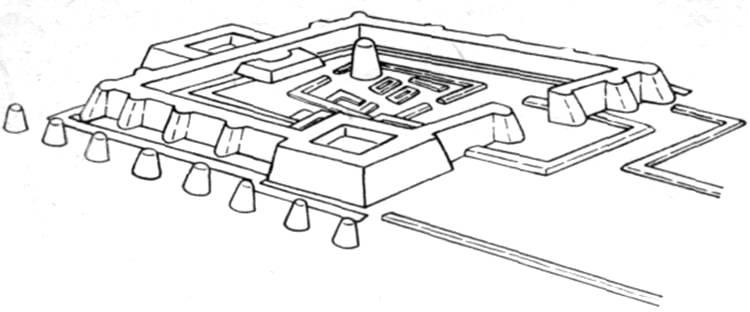 Схема цитадели Орду-Балыка.