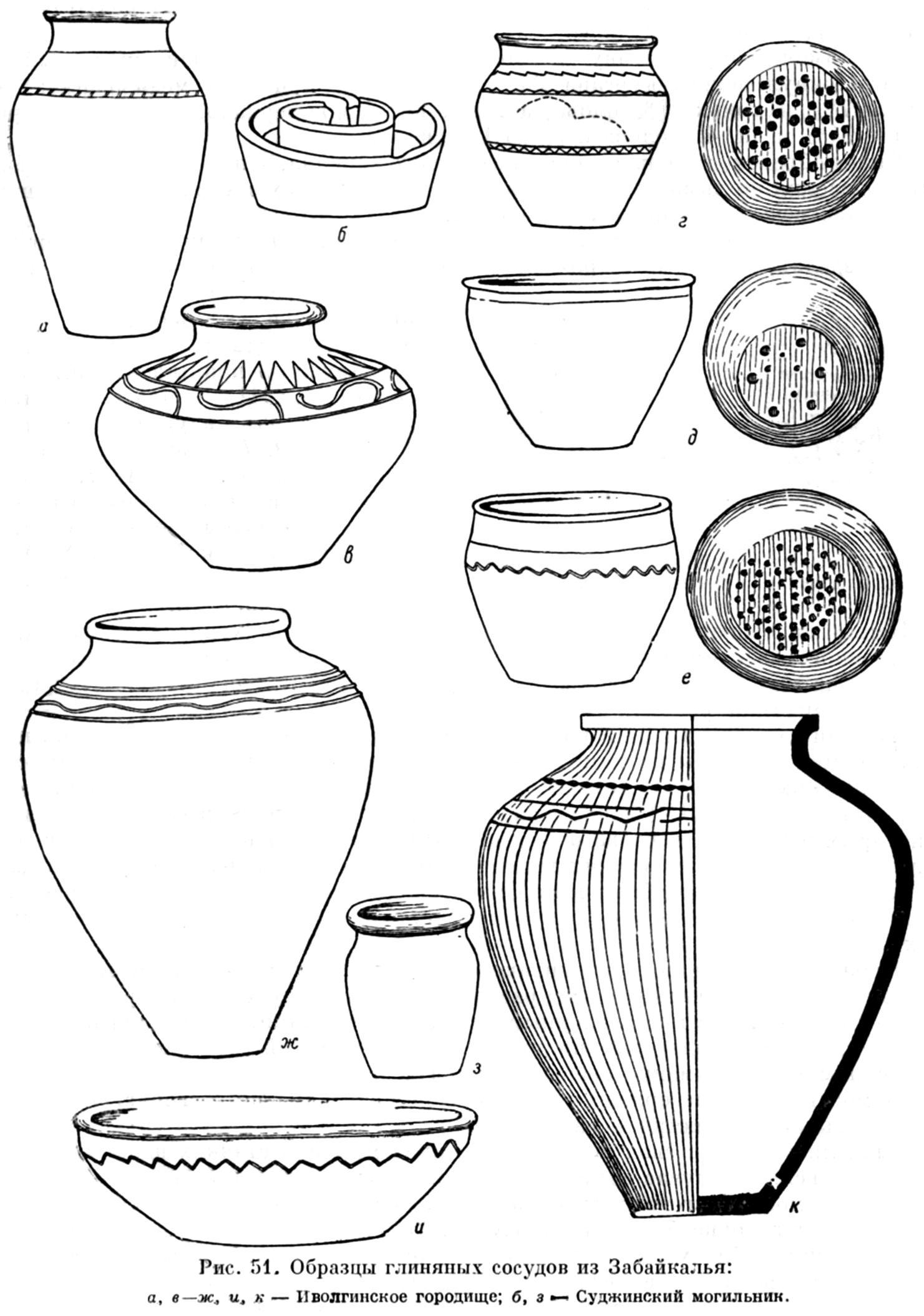 Глиняные горшки для раскраски