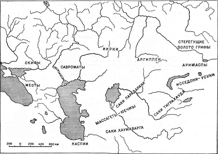 Схема расселения евразийских
